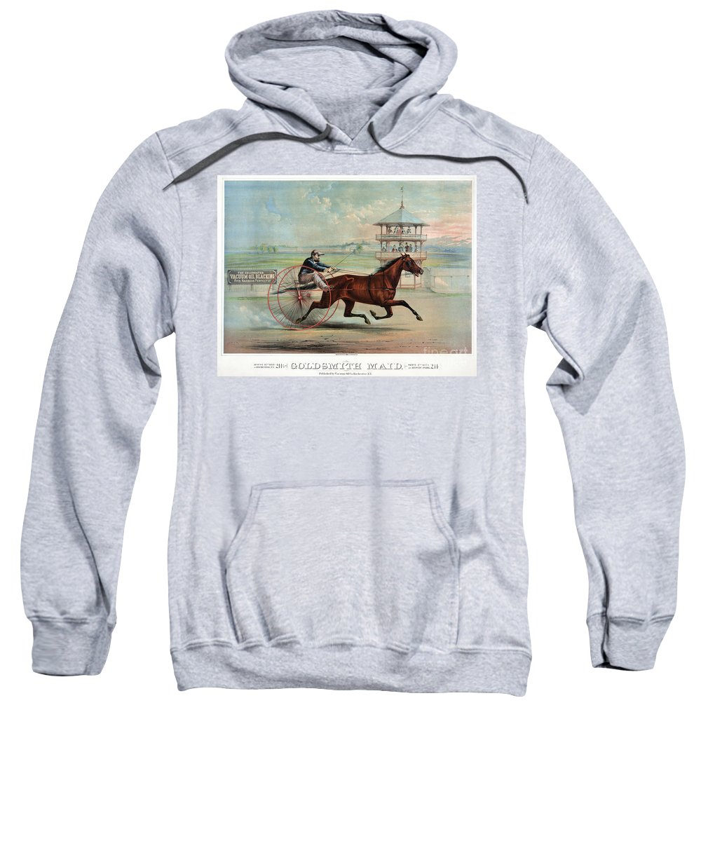 1874 Sweatshirt featuring the photograph Racehorse: Goldsmith Maid by Granger