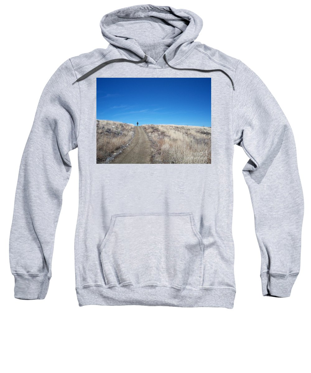 Racing Bike Sweatshirt featuring the photograph Racing Over The Horizon by Heather Kirk