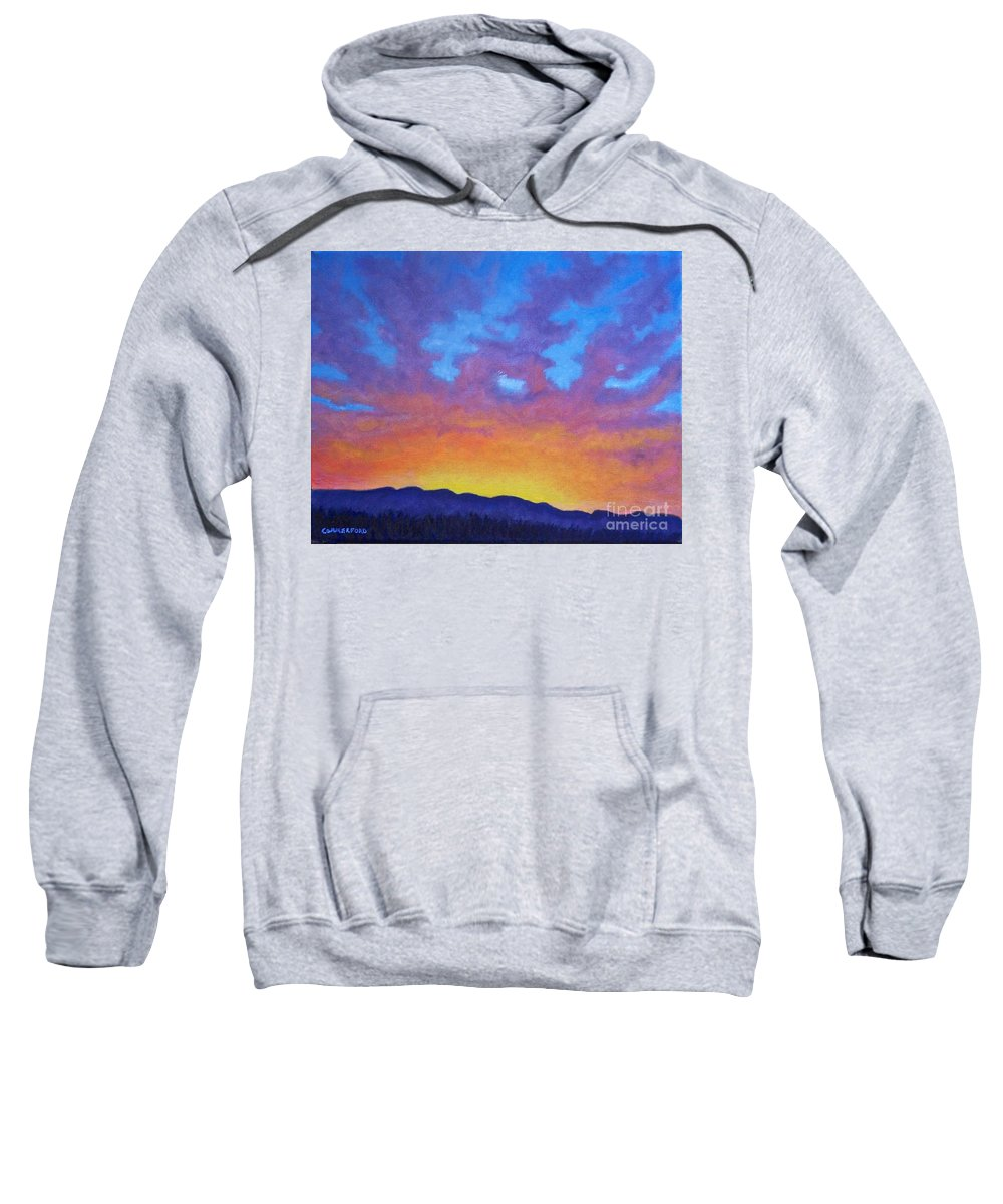 Landscape Sweatshirt featuring the painting Radiance by Brian Commerford