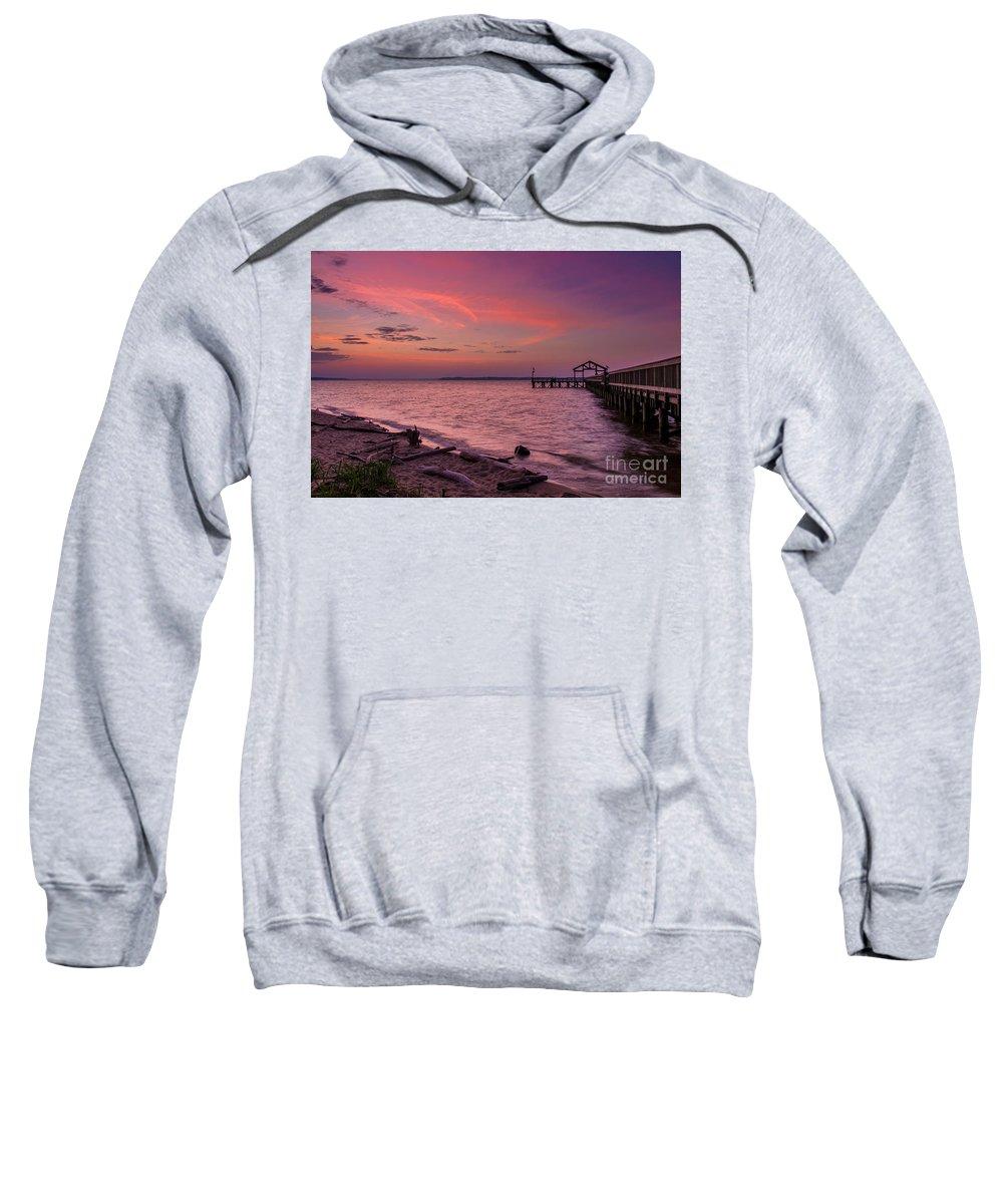 Beach Sweatshirt featuring the digital art Radiant Sky by Alexander Butler
