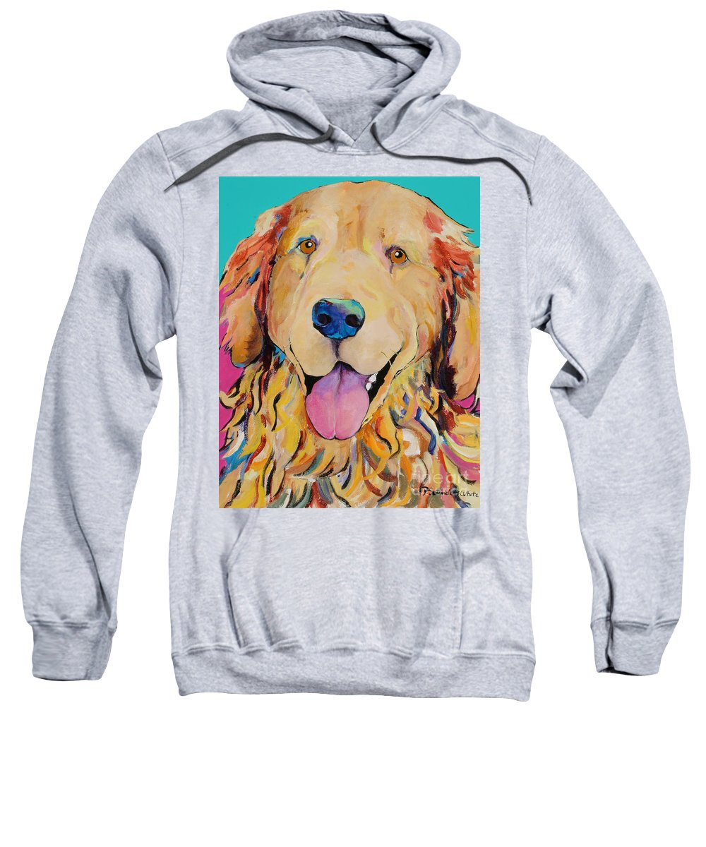 Golden Retriever Sweatshirt featuring the painting Radley by Pat Saunders-White