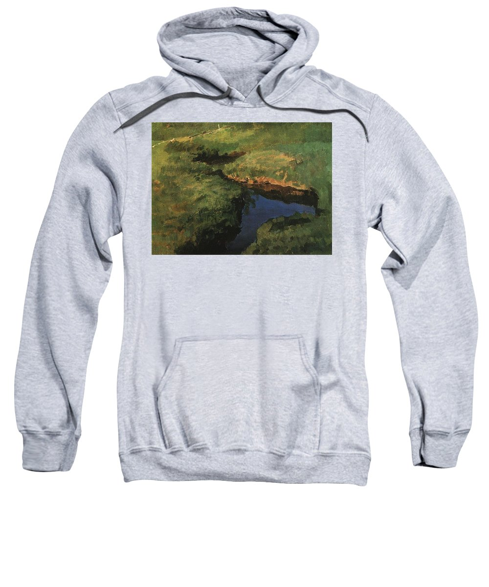 Snake Sweatshirt featuring the digital art Raduga1 1908 Konstantin Andreevich 1869-1939 Somov by Eloisa Mannion
