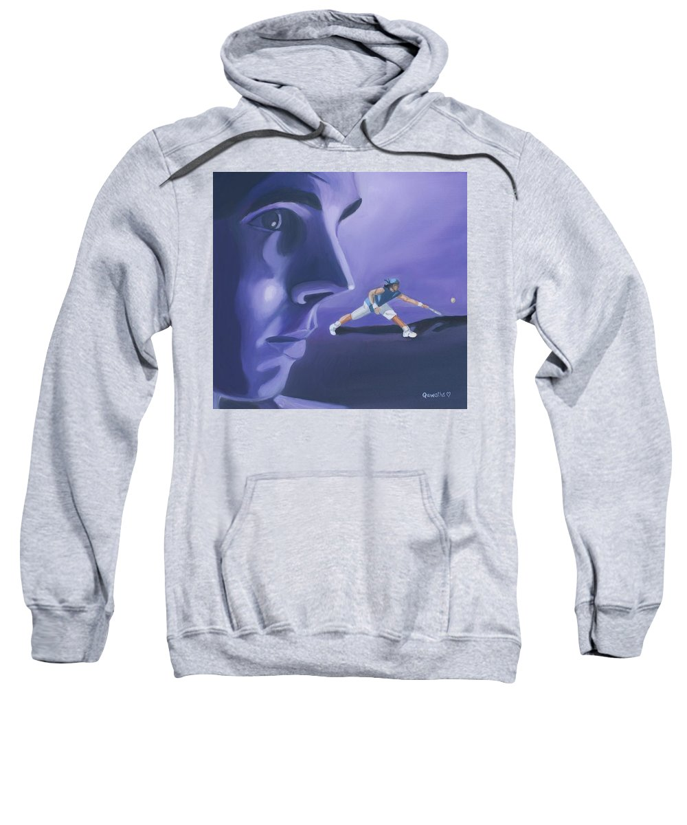 Raphael Sweatshirt featuring the painting Rafael Nadal by Quwatha Valentine