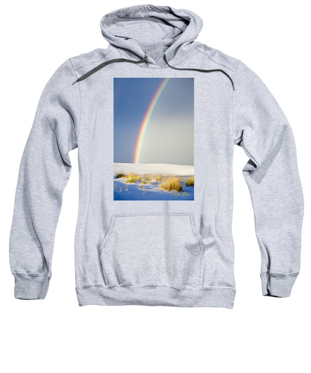 Atmosphere Sweatshirt featuring the photograph Rainbow At White Sands by Rikk Flohr
