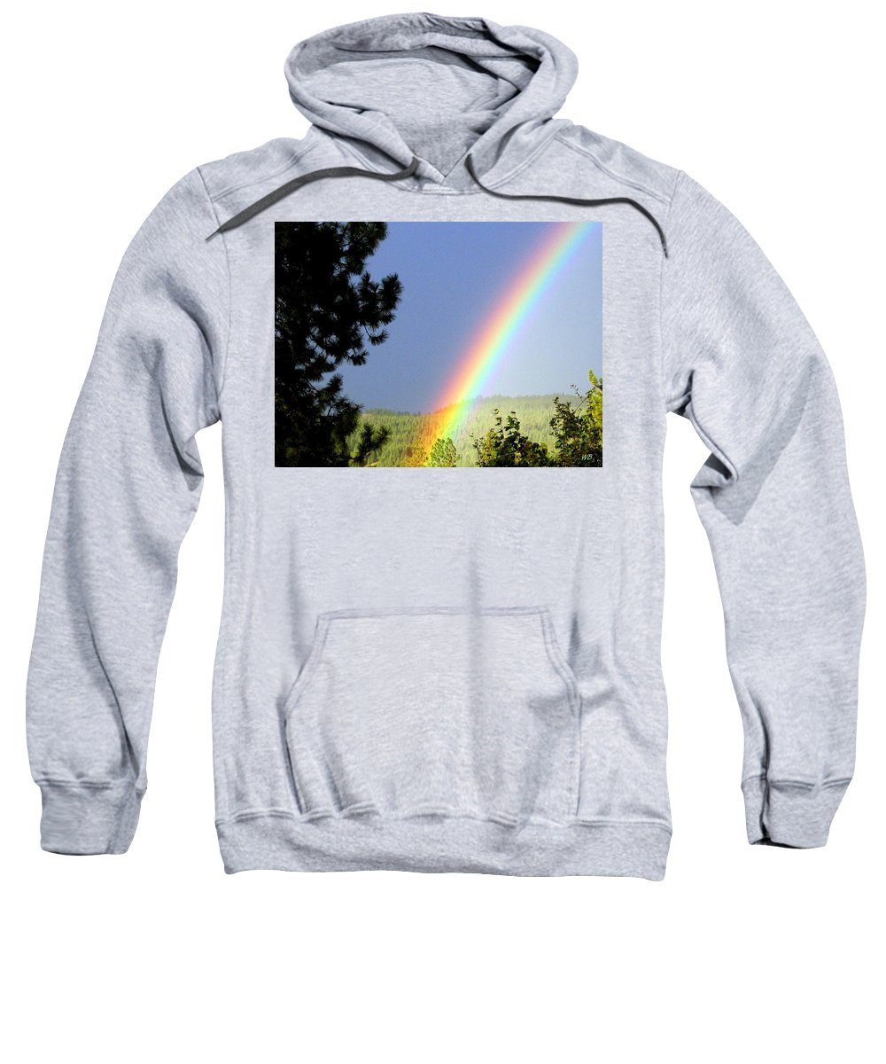 Rainbow Sweatshirt featuring the photograph Rainbow Covenant by Will Borden