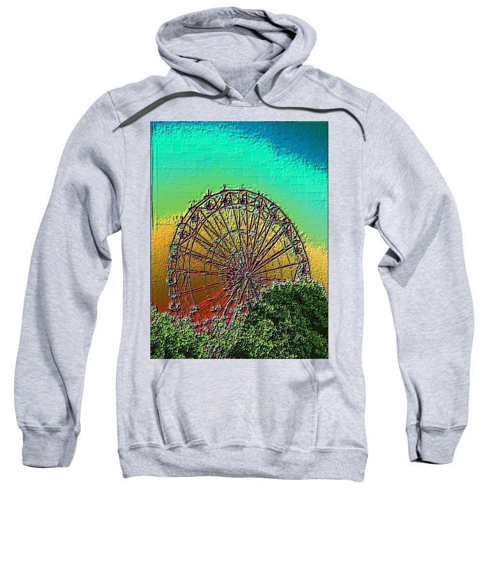 Rainbow Sweatshirt featuring the photograph Rainbow Ferris Wheel by Tim Allen