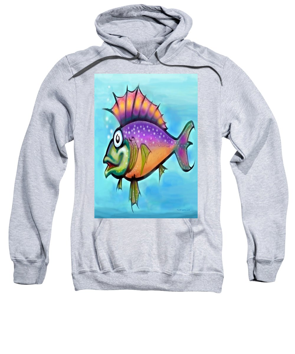 Fish Sweatshirt featuring the greeting card Rainbow Fish by Kevin Middleton