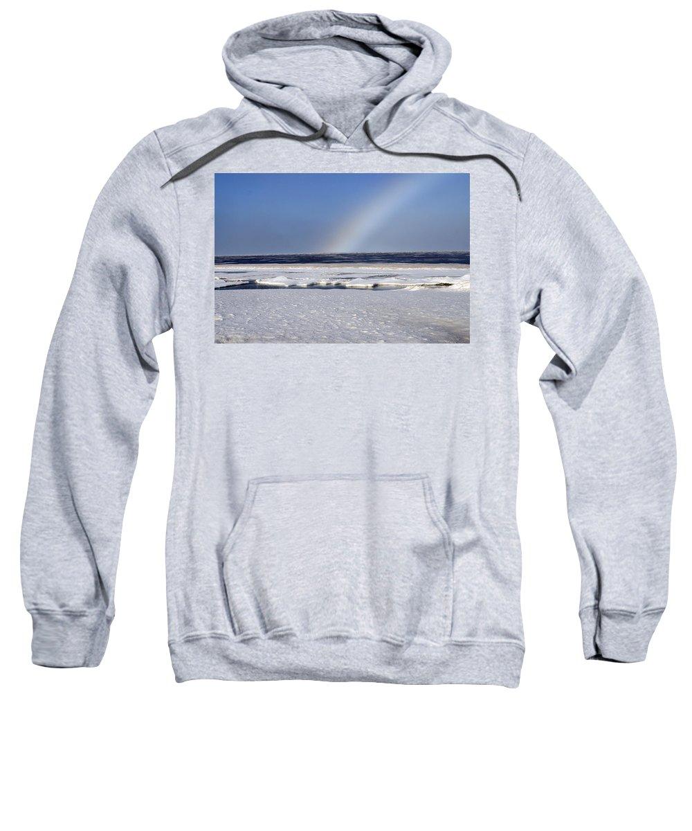 Rainbow Sweatshirt featuring the photograph Rainbow Over The Arctic by Anthony Jones