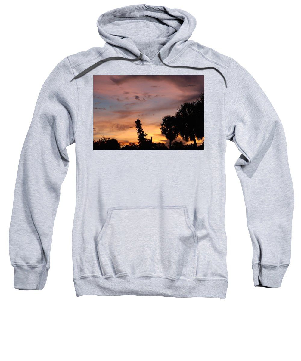 Sunset Sweatshirt featuring the photograph Rainbow Sunset by Rob Hans