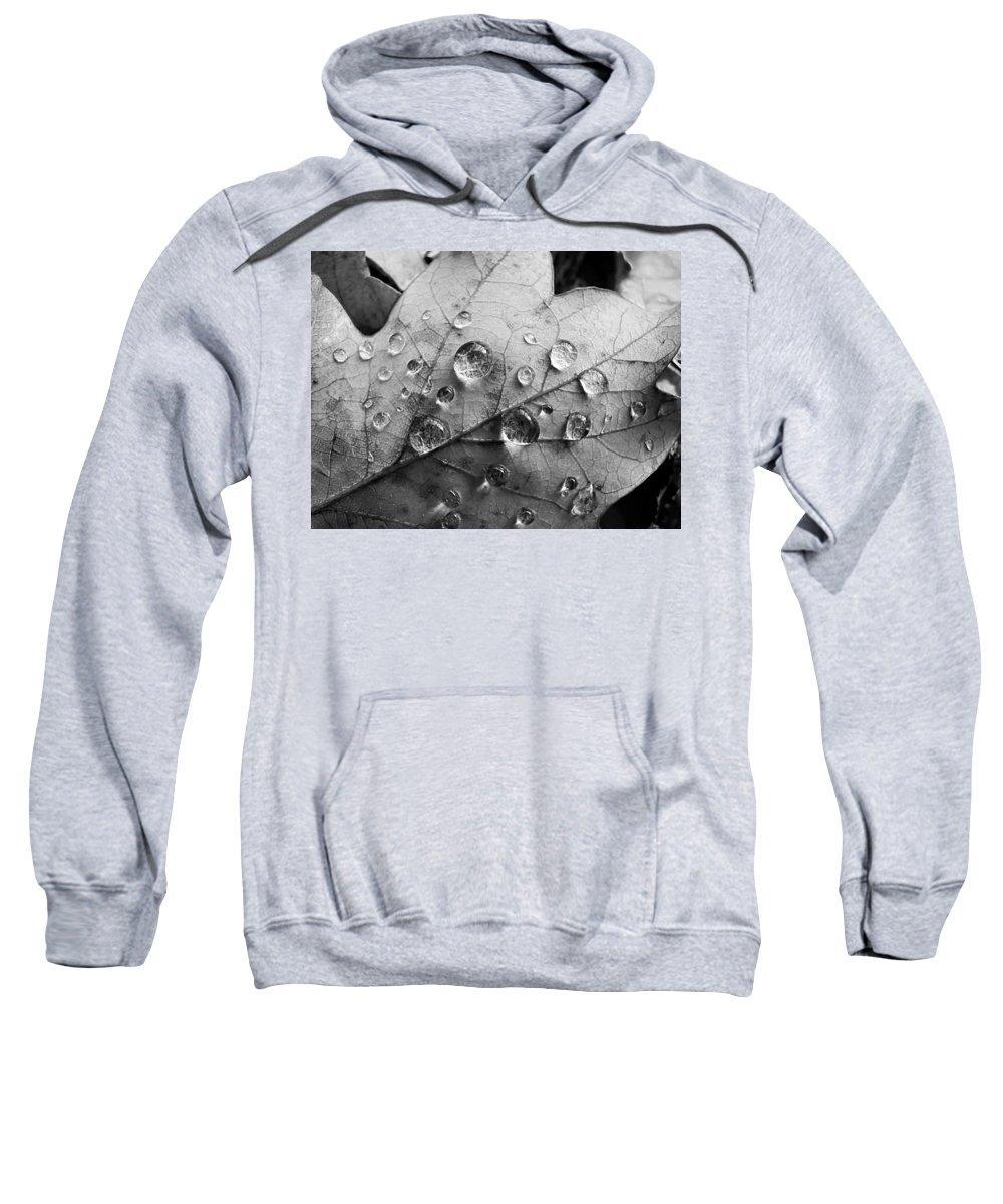Drops Sweatshirt featuring the photograph Raindrops by Daniel Csoka