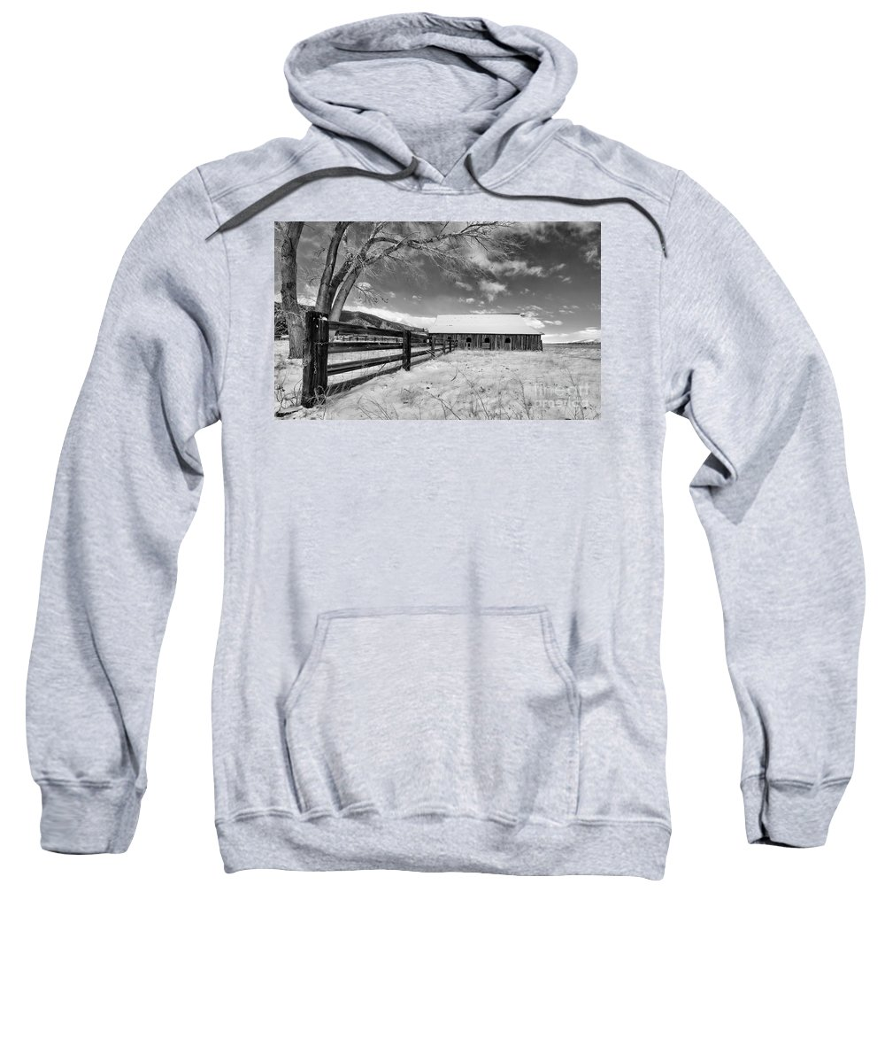 Nevada Sweatshirt featuring the photograph Ranch In Winter by Dianne Phelps