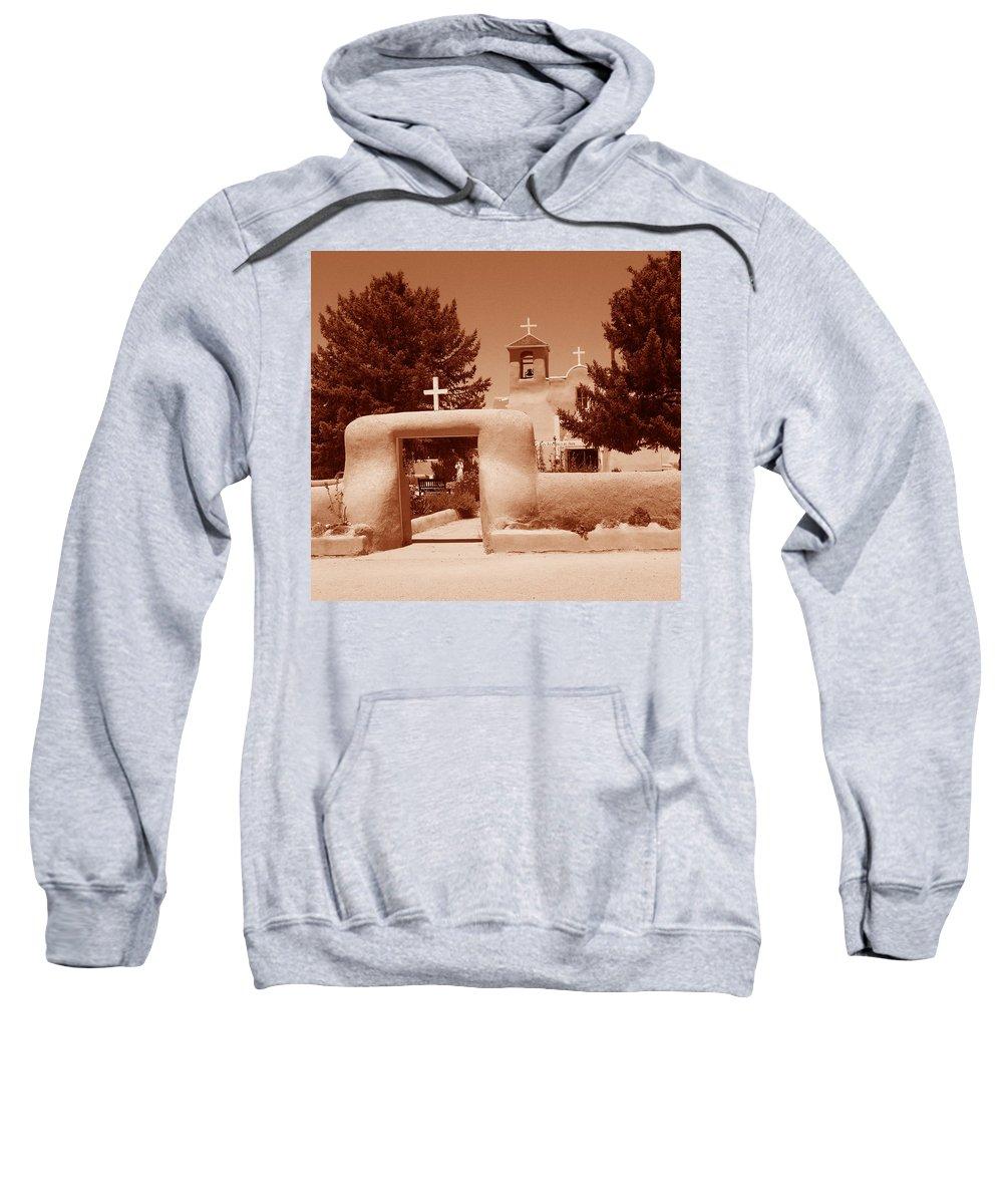 Church Sweatshirt featuring the photograph Ranchos De Taos Church  New Mexico by Wayne Potrafka