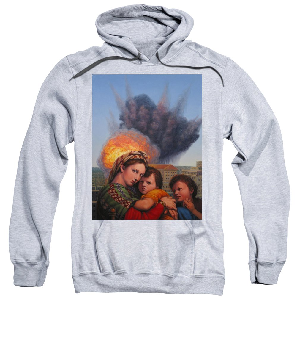 Madonna And Child Sweatshirt featuring the painting Raphael Moderne by James W Johnson