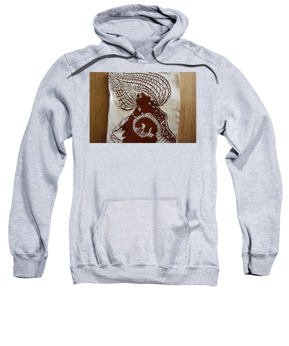Jesus Sweatshirt featuring the ceramic art Rapture - Tile by Gloria Ssali