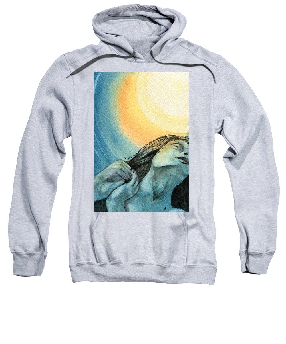 Watercolor Sweatshirt featuring the painting Rapture by Brenda Owen