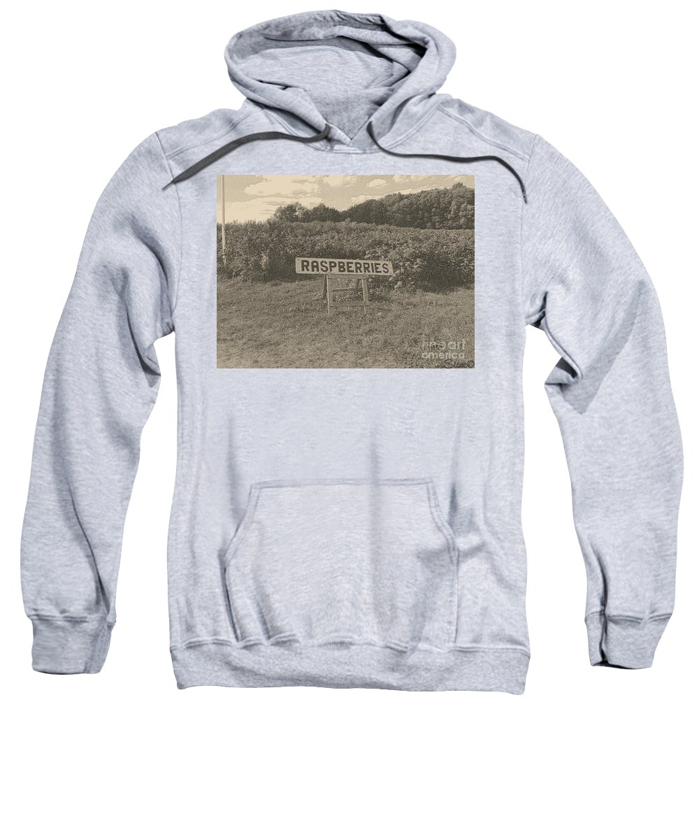 Country Sweatshirt featuring the photograph Raspberry Fields by September Stone