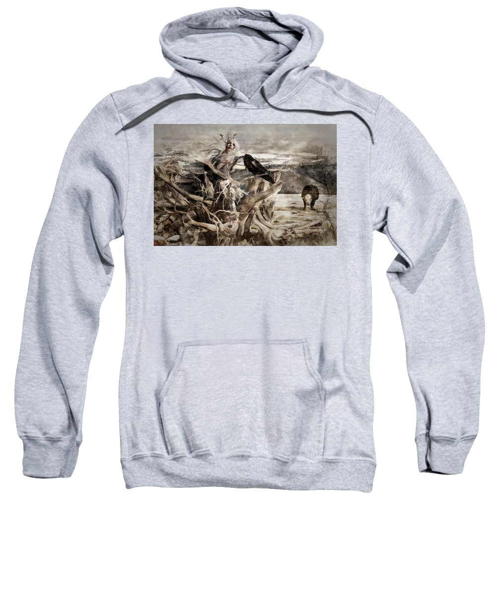 Colorado Sweatshirt featuring the photograph Raven Berry by Allyson Schwartz