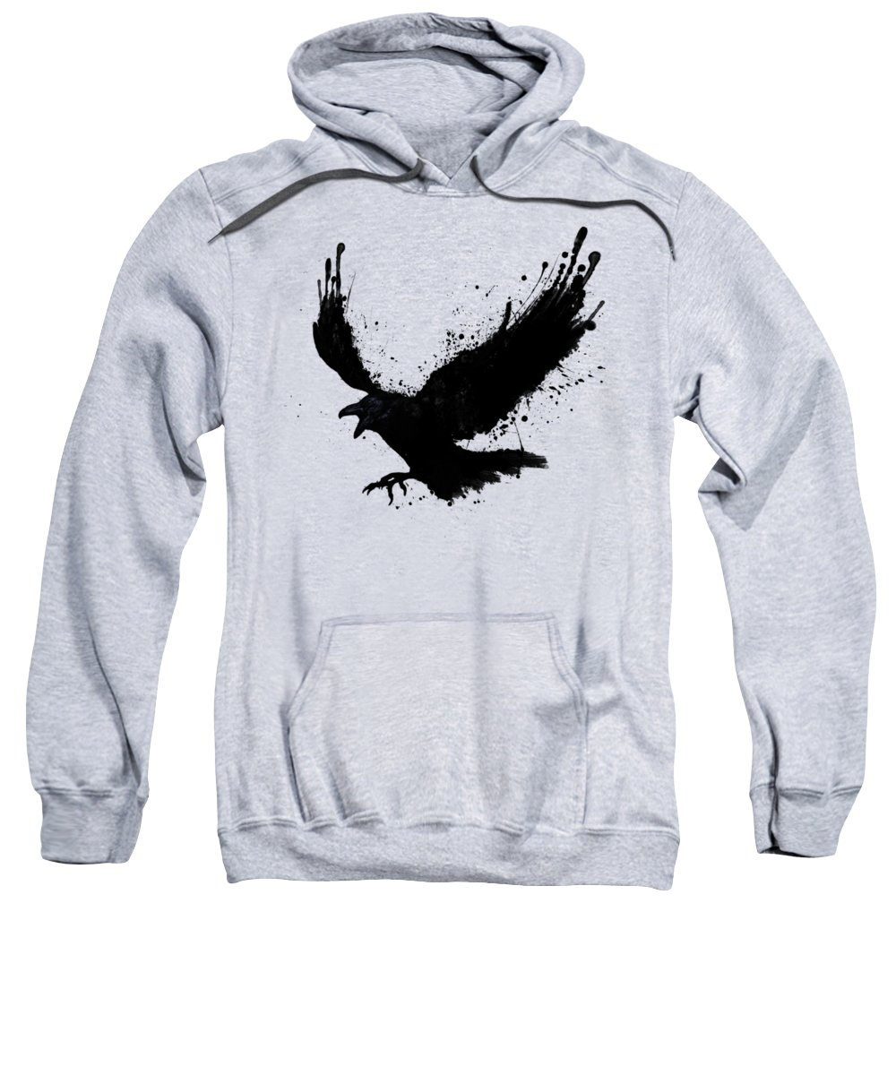 Raven Sweatshirt featuring the digital art Raven by Nicklas Gustafsson