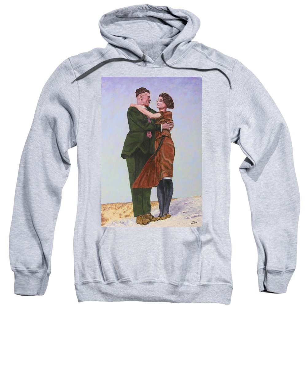 Double Portrait Sweatshirt featuring the painting Ray And Isabel by Stan Hamilton