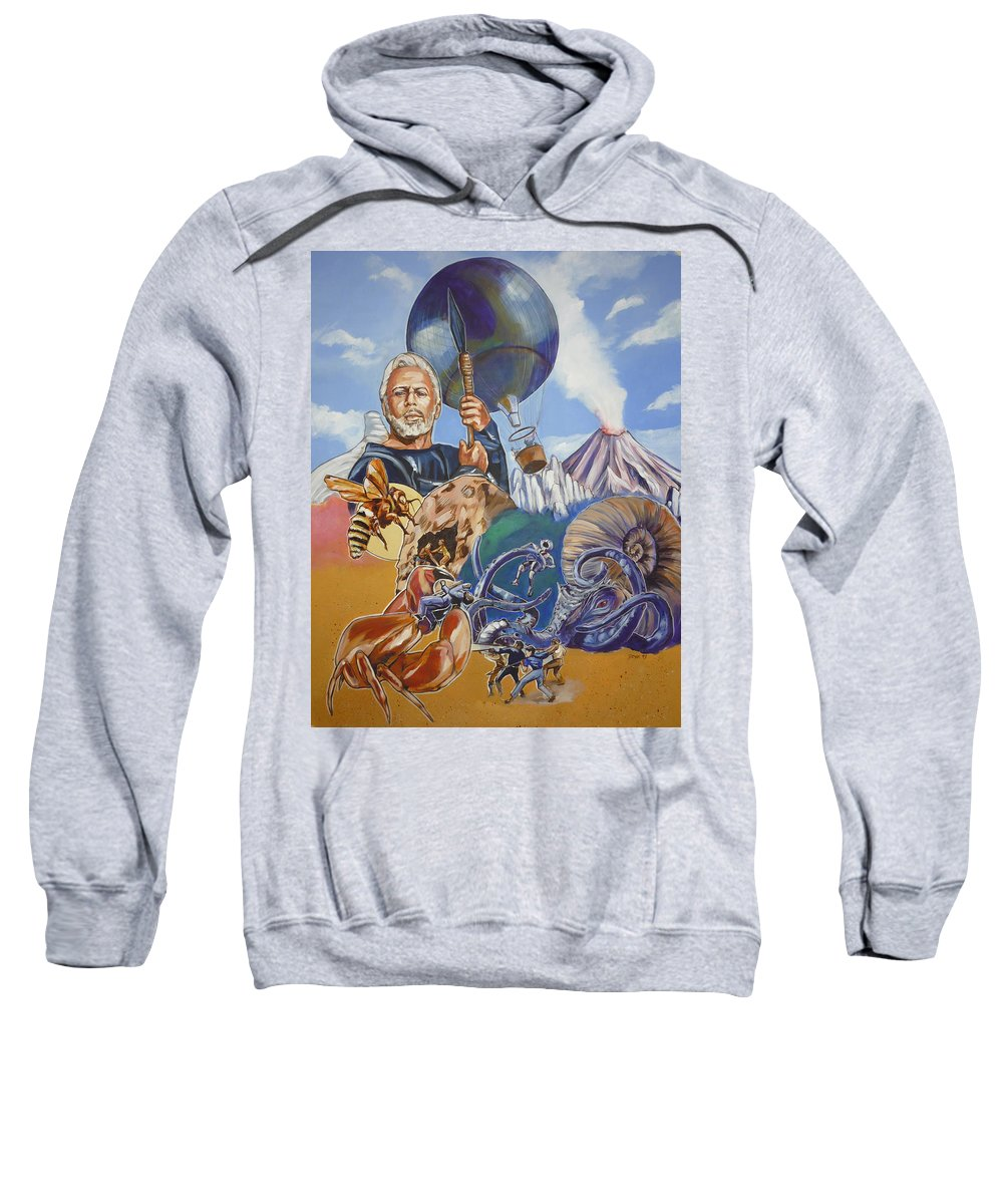 Mysterious Island Sweatshirt featuring the painting Ray Harryhausen Tribute The Mysterious Island by Bryan Bustard