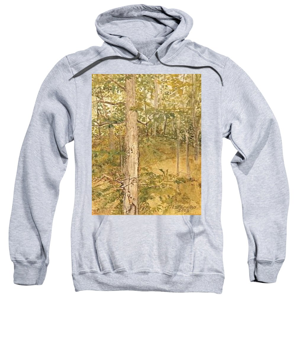 Trees Sweatshirt featuring the painting Raystown Lake by Leah Tomaino