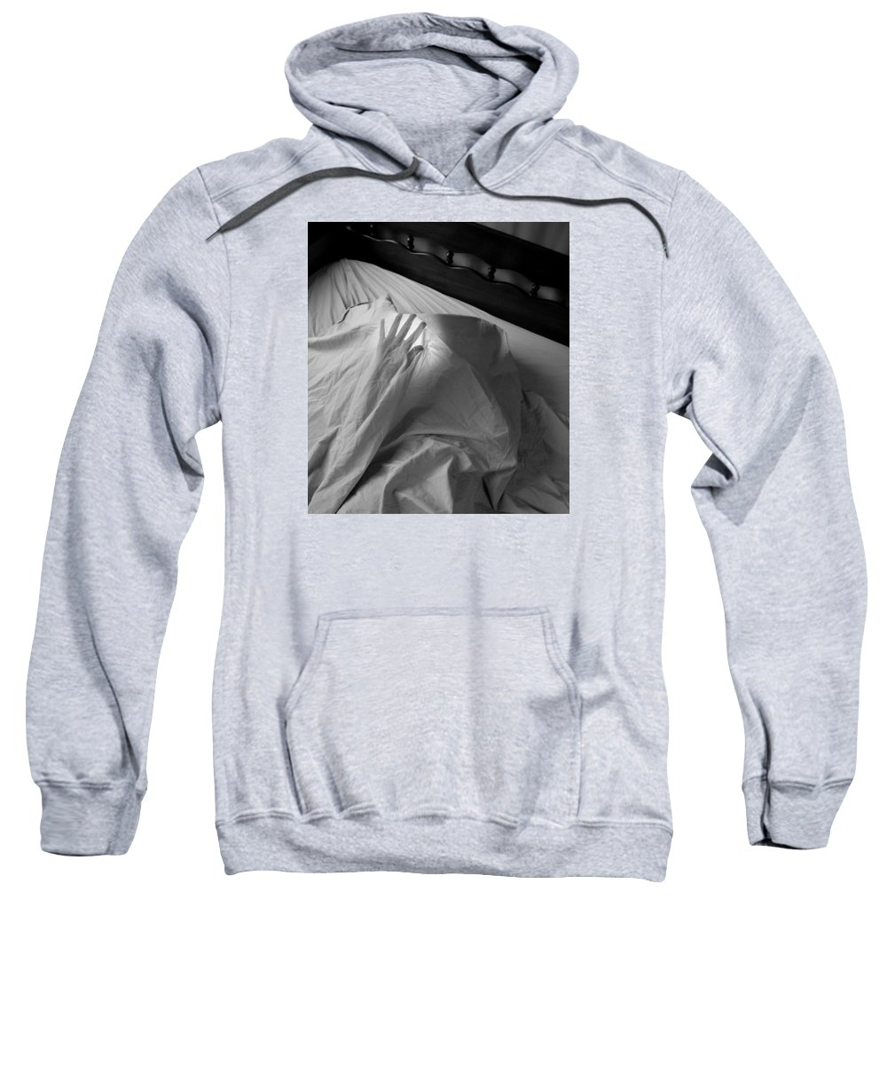 Black And White Sweatshirt featuring the photograph Reaching by Alice Kelsey
