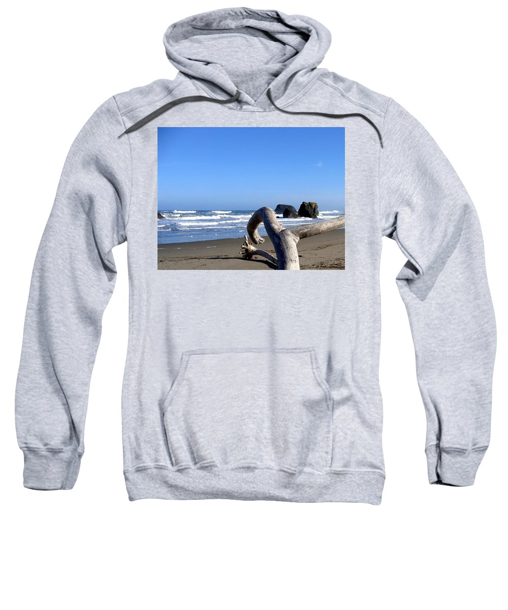 Reaching Back To The Sea Sweatshirt featuring the photograph Reaching Back To The Sea by Will Borden