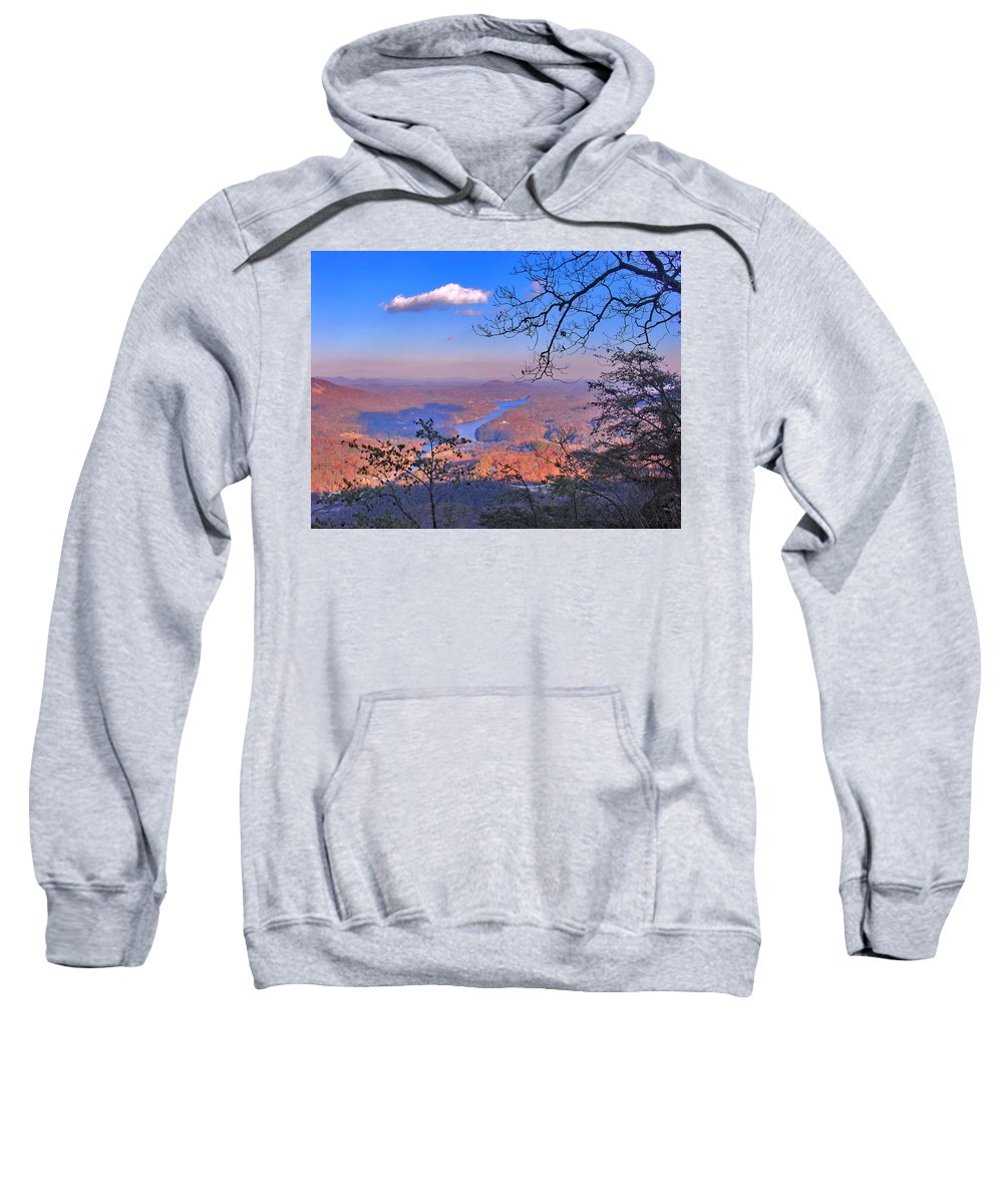 Landscape Sweatshirt featuring the photograph Reaching For A Cloud by Steve Karol