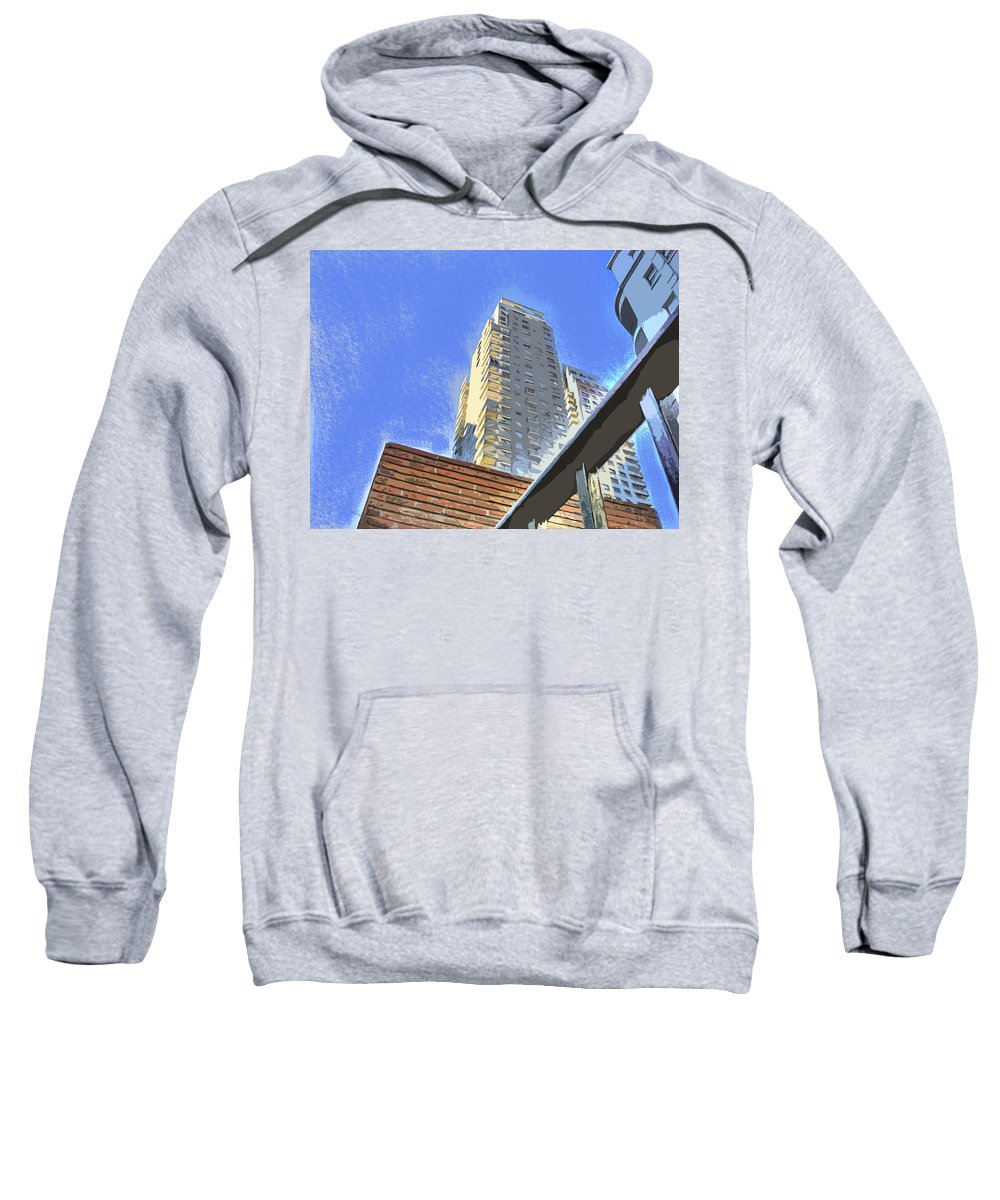 Building Sweatshirt featuring the photograph Reaching For The Sky by Francisco Colon