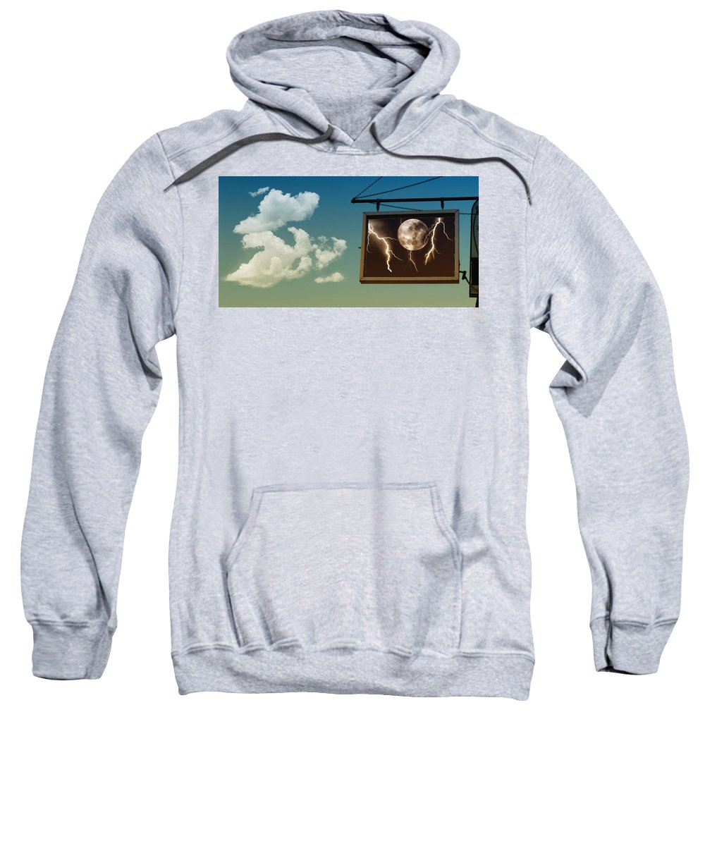 Sky Sweatshirt featuring the photograph Read The Signs by Kristie Bonnewell