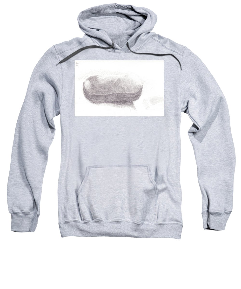 Sketch Sweatshirt featuring the drawing Readers Case by James Ath