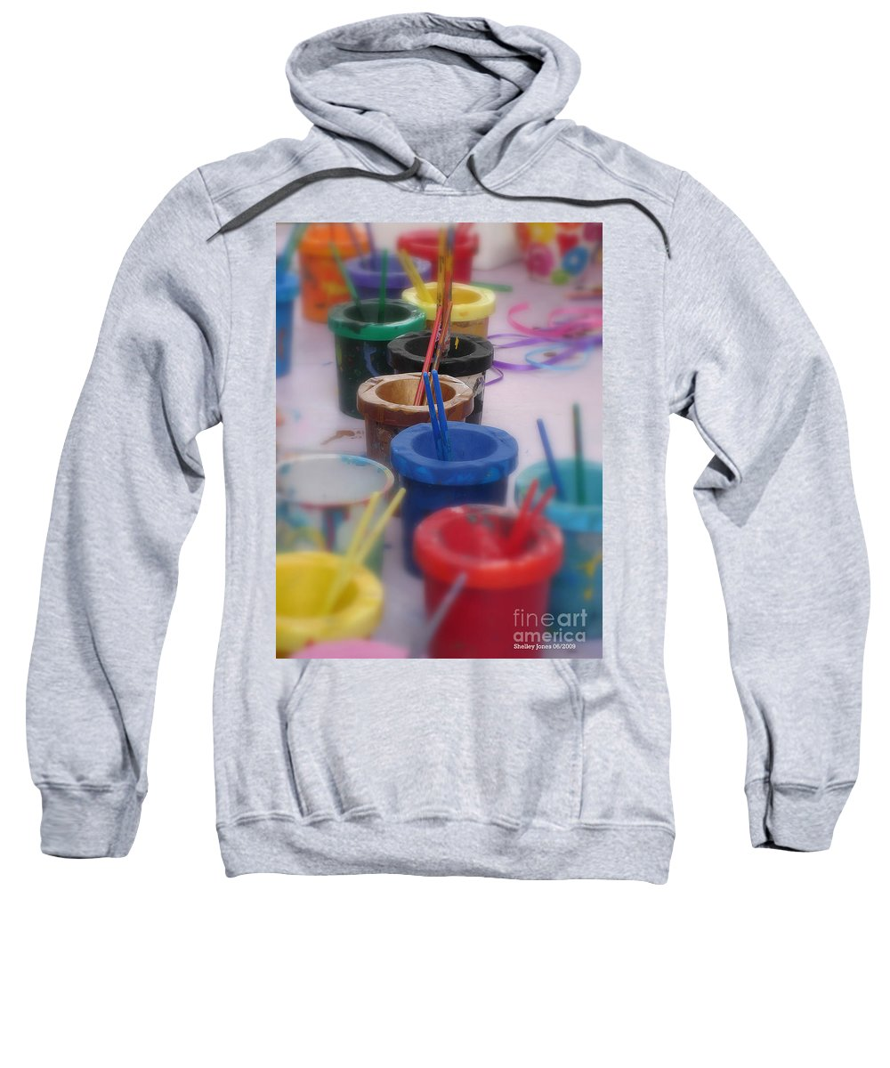 Painting Sweatshirt featuring the photograph Ready  Set  Paint by Shelley Jones