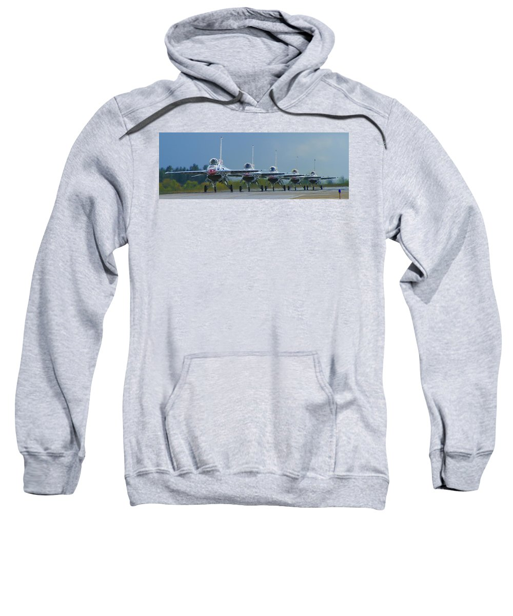 F-16 Sweatshirt featuring the photograph Ready For Takeoff by Bob Mintie