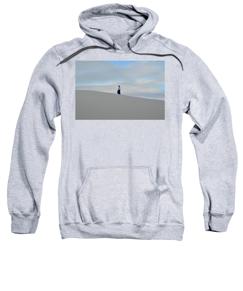 Girl Sweatshirt featuring the photograph Ready To Ride The Sand by Dawn Crichton