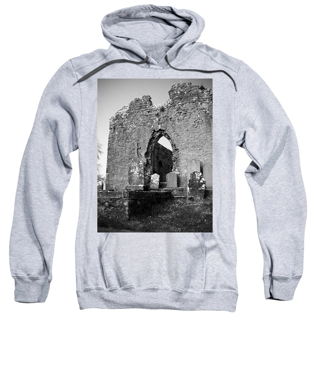 Ireland Sweatshirt featuring the photograph Rear Entrance Fuerty Church Roscommon Ireland by Teresa Mucha