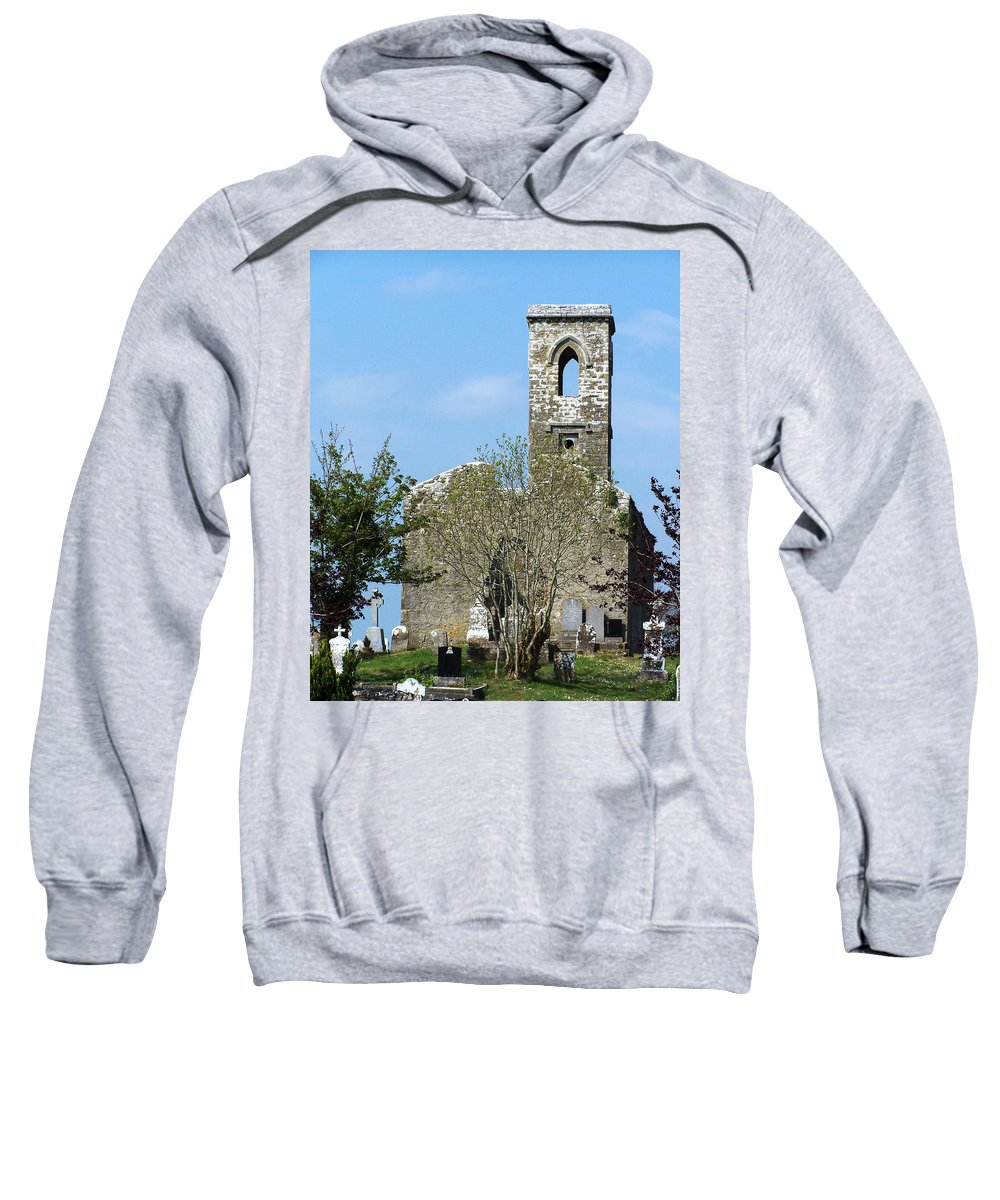 Fuerty Sweatshirt featuring the photograph Rear View Fuerty Church And Cemetery Roscommon Ireland by Teresa Mucha