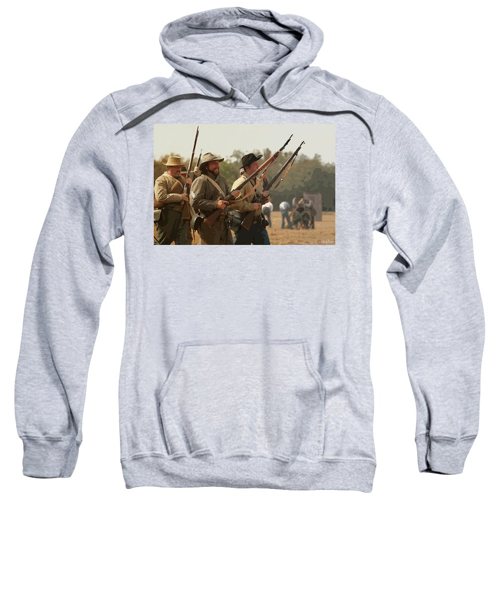 Florida Sweatshirt featuring the photograph Rebel Charge by Mark Fuge