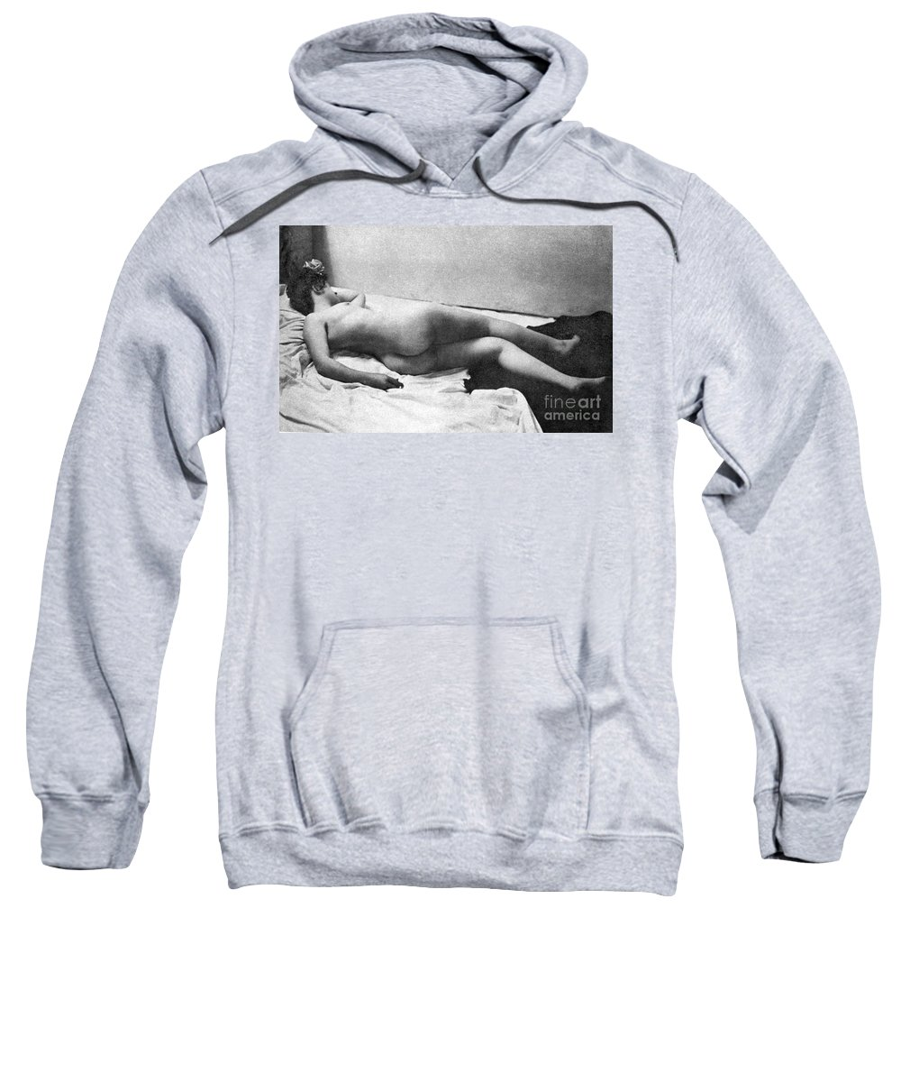 Sweatshirt featuring the painting Reclining Nude, 1902 by Granger