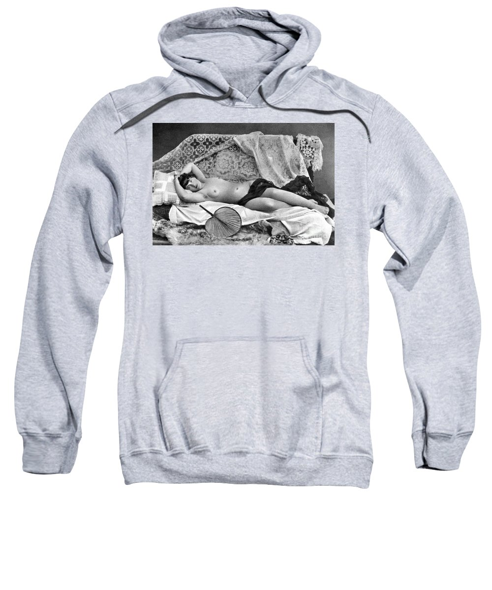 Sweatshirt featuring the painting Reclining Nude, C1890 by Granger