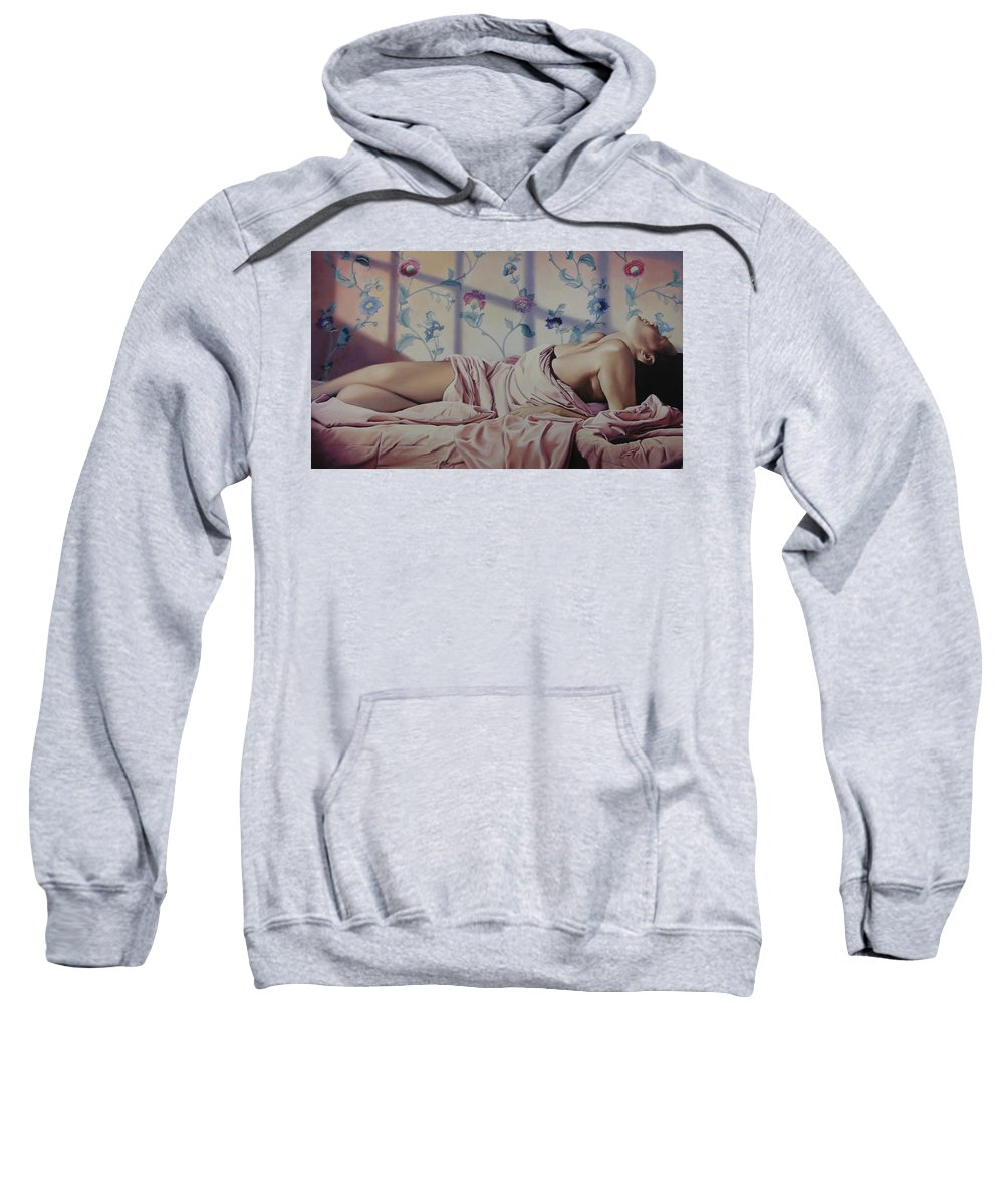 Nude Sweatshirt featuring the painting Reclining Nude by Patrick Anthony Pierson