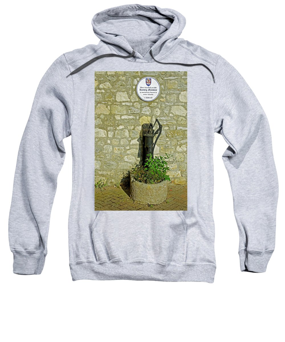 Isle Of Wight Sweatshirt featuring the photograph Rectory Mansion And Hand Pump - Brading by Rod Johnson