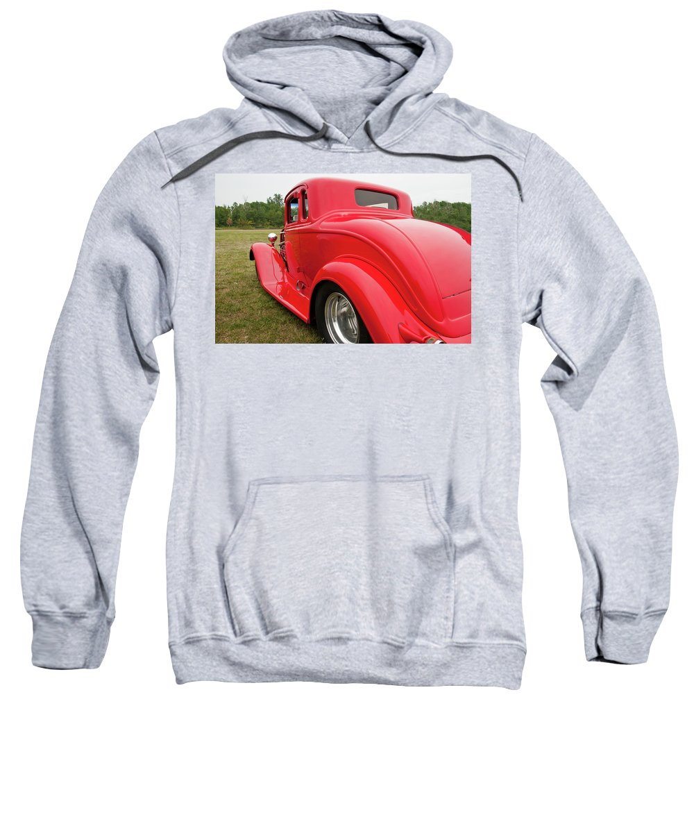 Antique Car Sweatshirt featuring the photograph Red 1994 by Guy Whiteley