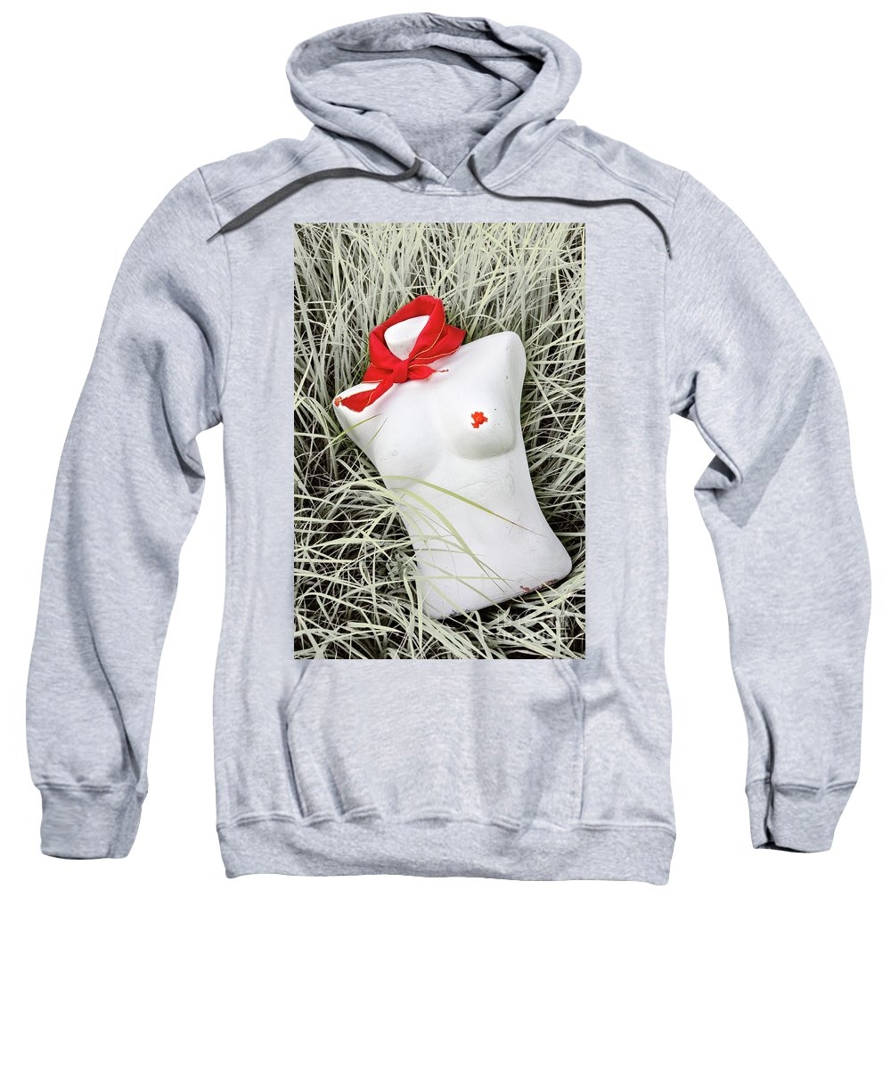 Abstract Sweatshirt featuring the photograph Red #7127 by Andrey Godyaykin