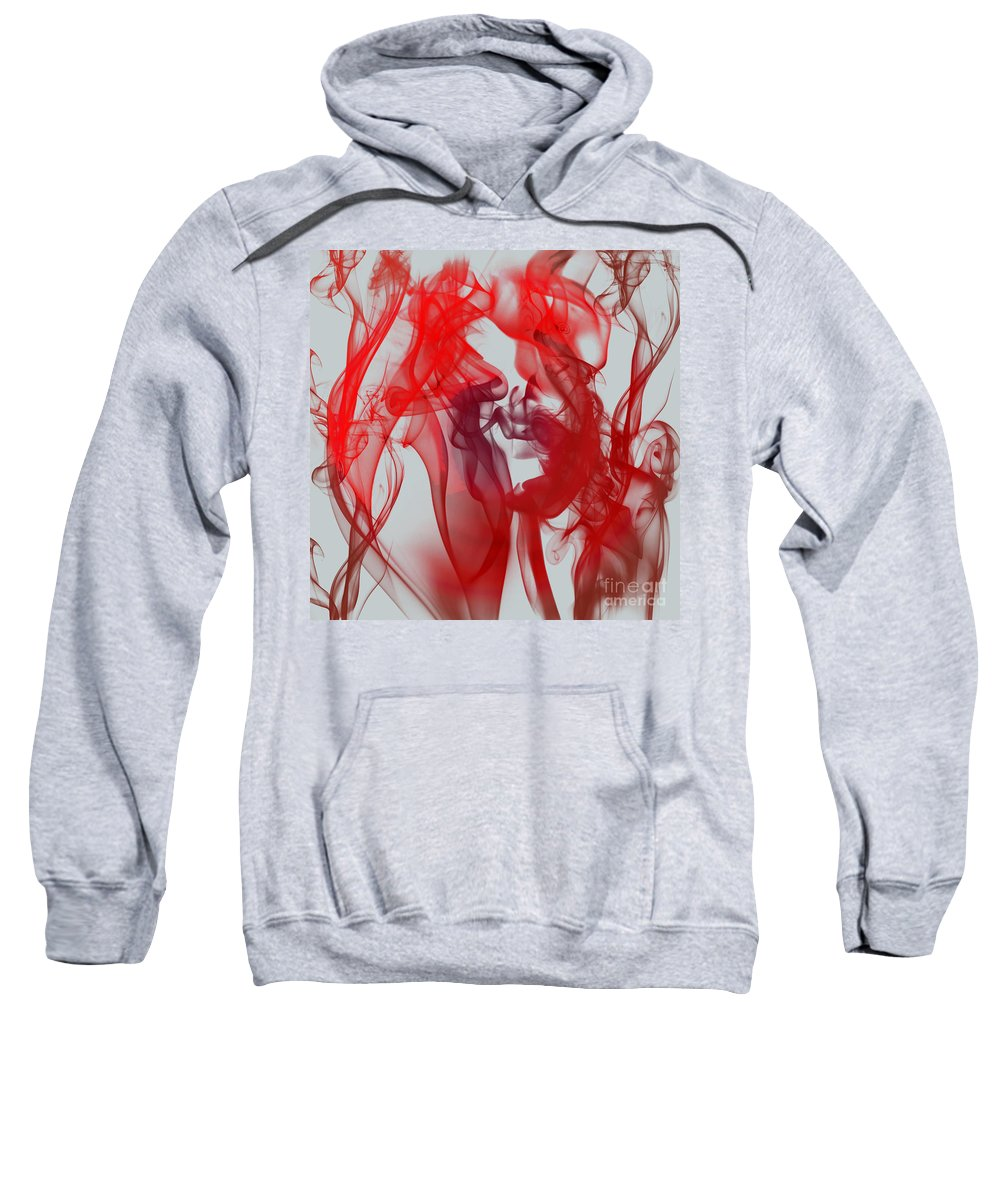 Clay Sweatshirt featuring the digital art Red Alert by Clayton Bruster
