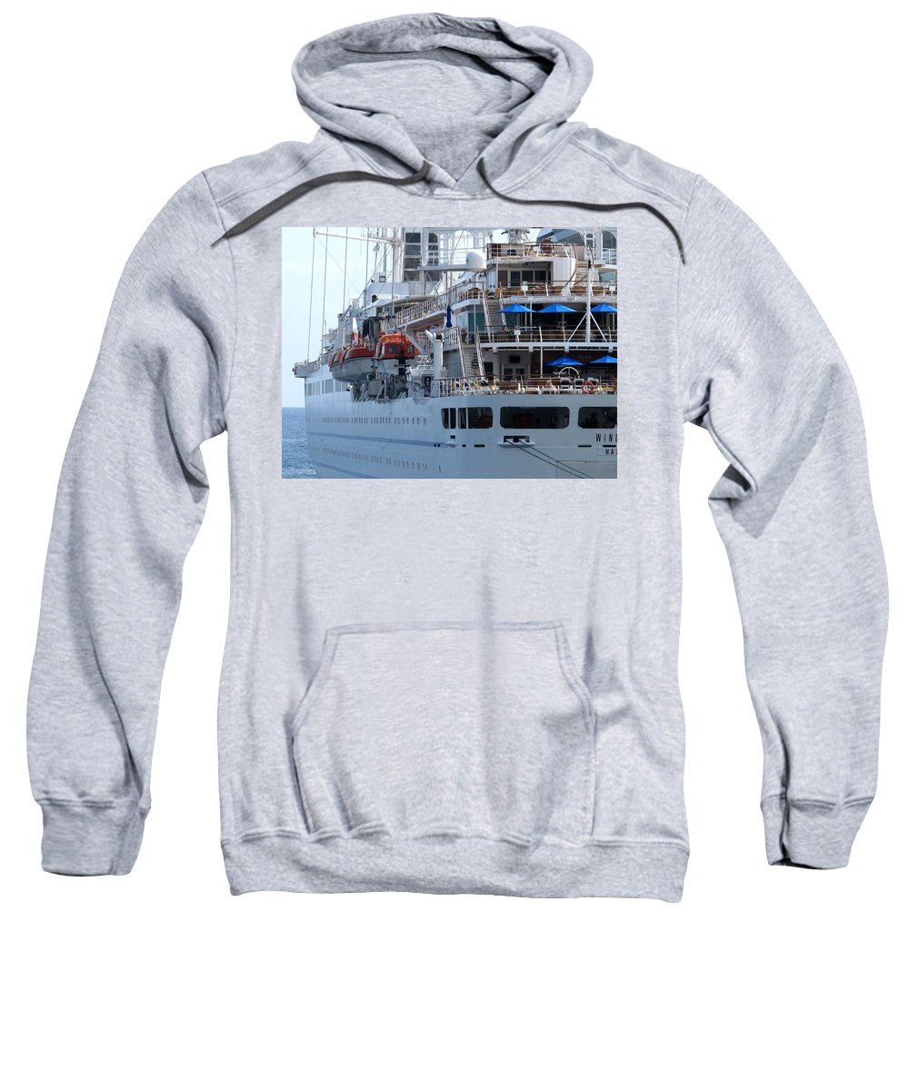 Ship Sweatshirt featuring the photograph Red And Blue by Ian MacDonald