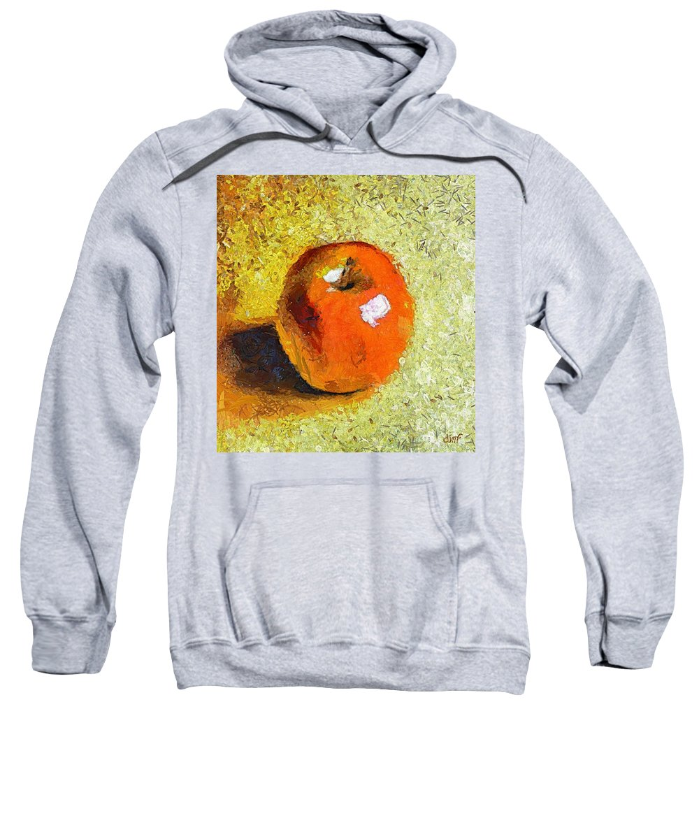 Red Apple Sweatshirt featuring the painting Red Apple by Dragica Micki Fortuna