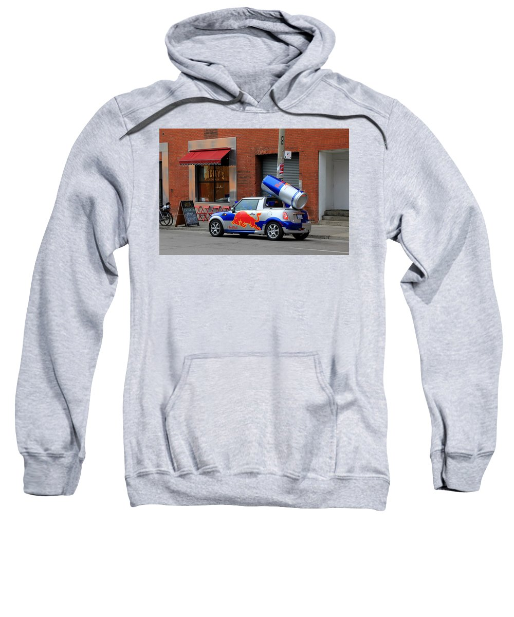 Red Bull Sweatshirt featuring the photograph Red Bull Car by Andrew Fare