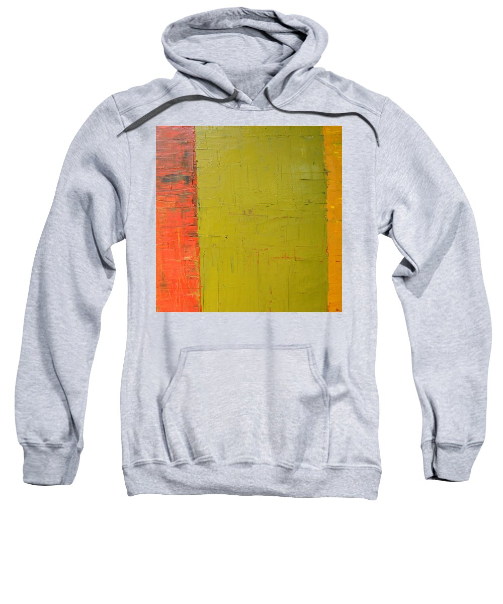 Red Sweatshirt featuring the painting Red Green Yellow by Michelle Calkins