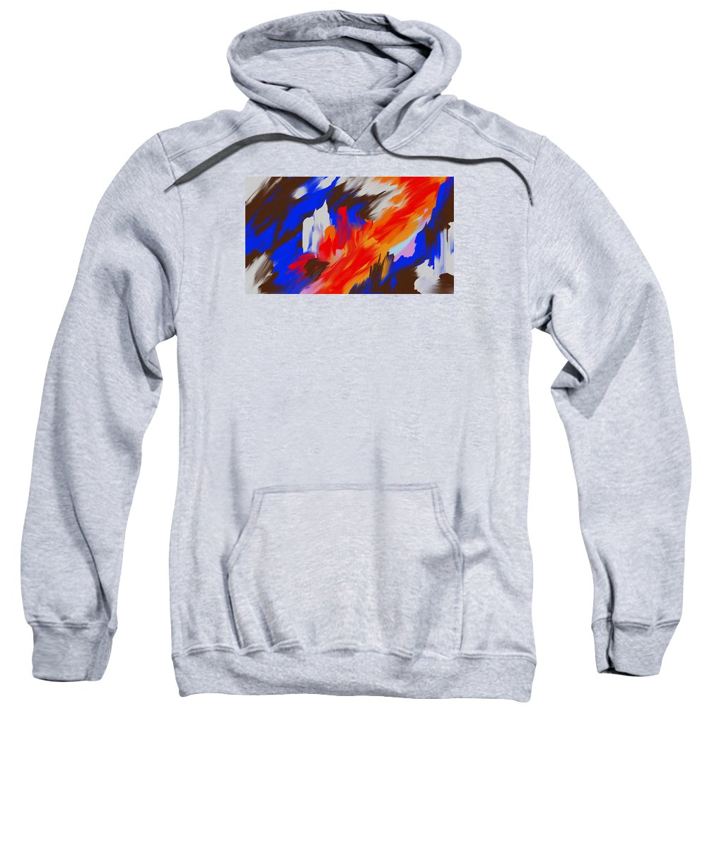 Abstract Art Sweatshirt featuring the painting Red Lore by Katey Love