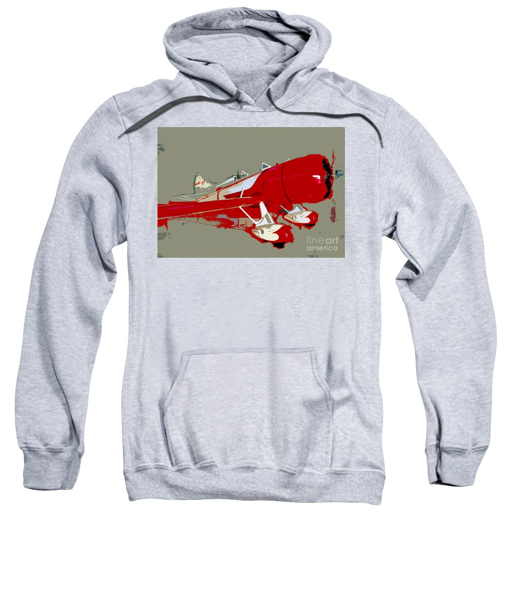 Fast Sweatshirt featuring the painting Red Racer by David Lee Thompson